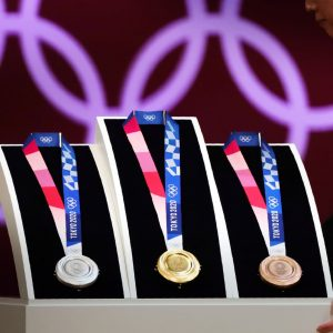 Tokyo 2020 Medals presentation Gold Silver Bronze